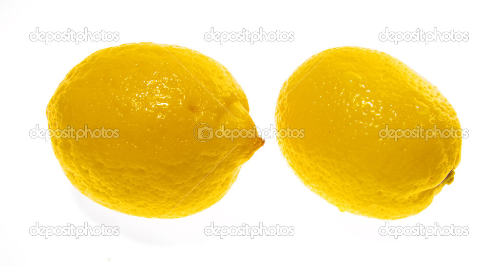 Lemon isolated object — Stock Photo #1192690