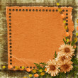 Grunge paper frame in scrapbooking style — Stock Photo