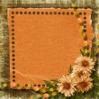 Stock Photo: Grunge paper frame in scrapbooking style