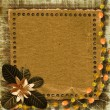 Grunge paper frame in scrapbooking style — Stock Photo #1177085