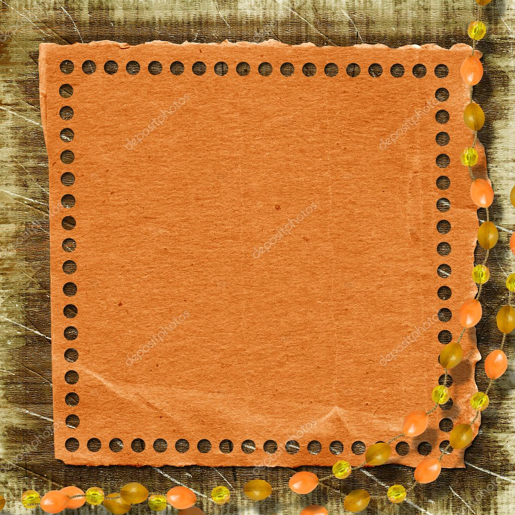 Grunge paper frame in scrapbooking style on the abstract background. — Stock Photo #1176908