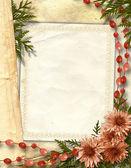 Flowered framework for greeting — Stock Photo