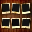 Royalty-Free Stock Photo: Old photoframes are hanging