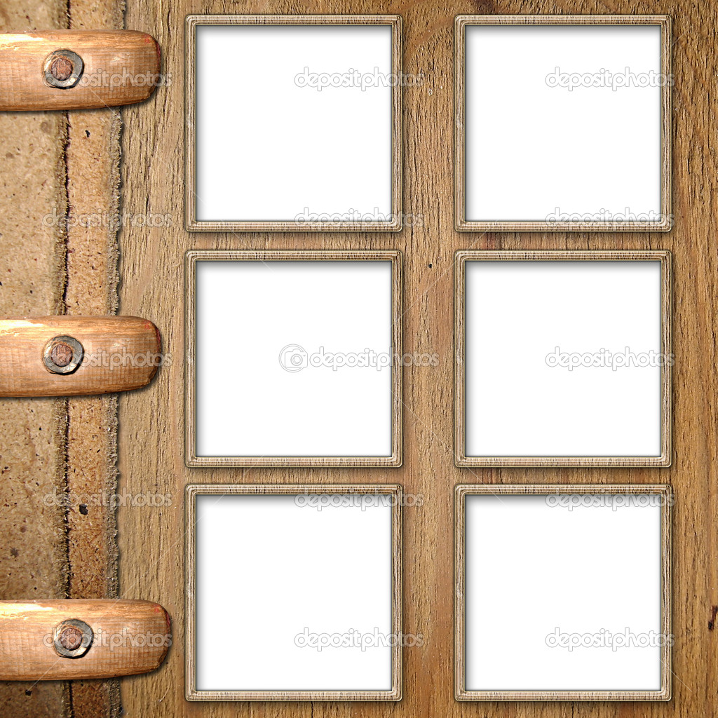 Framework for photo on the wooden background — Stock Photo #1198570