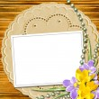 Elegant framework for invitation — Stock Photo