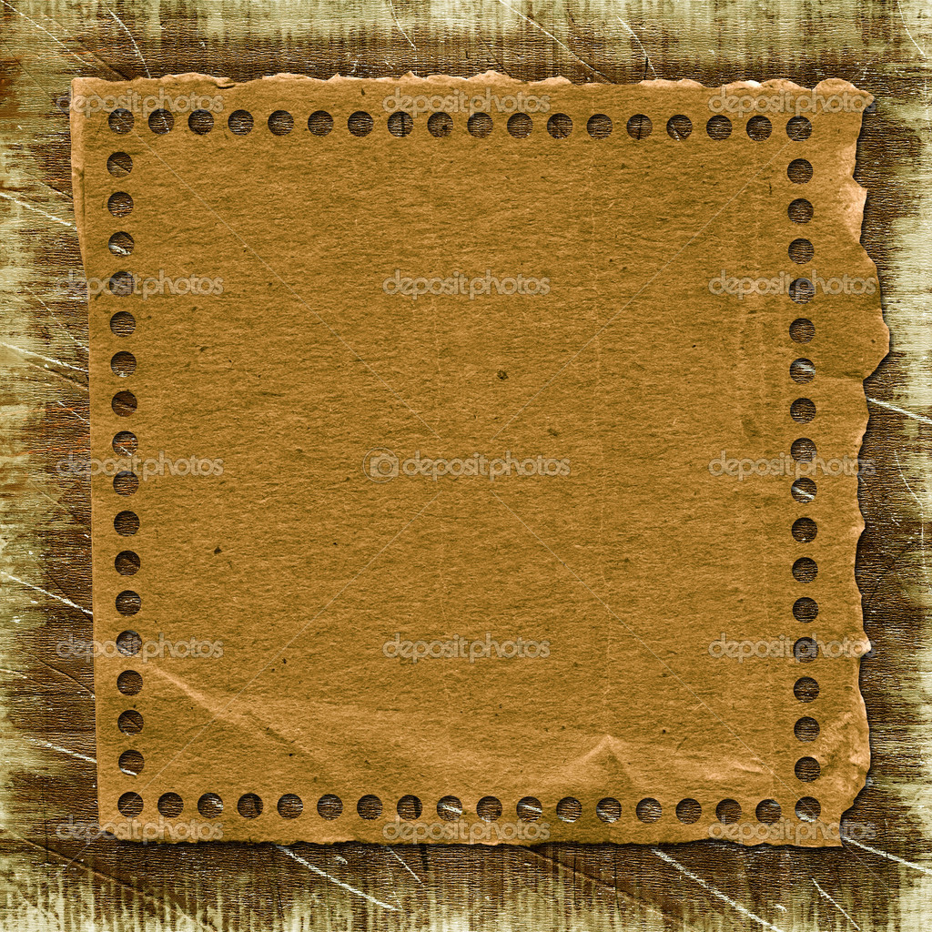 Grunge paper frame in scrapbooking style on the abstract background. — Stock Photo #1247003