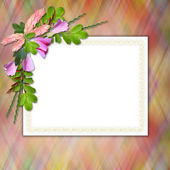 Flowered framework for greeting — Stock Photo