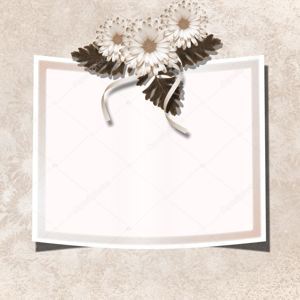 Page for photo or invitation on the vintage background. — Stock Photo #1251263