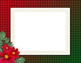 Flowered framework for greeting, congrat — Stock Photo