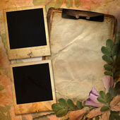 Vintage background with frames for photo — Stock Photo