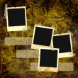 Stock Photo: Old slides on the grunge background.
