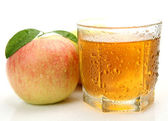 Apple and juice — Stock Photo