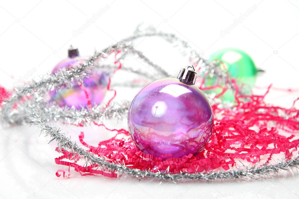 New Year's spheres  Stock Photo #1442926