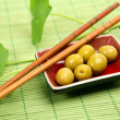 Stock Photo: Green olives