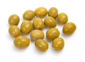 Olives on a white background — Stock Photo