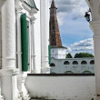 Veranda in old Russian monastery — Stock Photo
