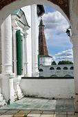 Veranda in old Russian monastery — Stock Photo
