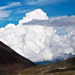 Majestic highland landscape with cloud - Stock Photo