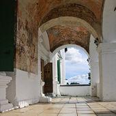 Veranda in old monastery — Stock Photo