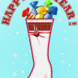 Christmas boot with sweets 2 — Stockfoto