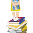 The little girl with book — Stock Photo