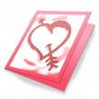 Heart card — Foto Stock