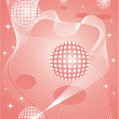 Sphere pink backgrounds — Stock Vector