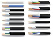 Koperen kabel — Stockvector