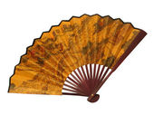 Fan on white background — Stock Photo