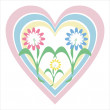 Royalty-Free Stock Vector Image: Flowers and heart