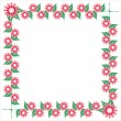 Royalty-Free Stock Vector Image: Floral frame on white background