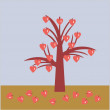 Royalty-Free Stock Imagen vectorial: Tree with hearts