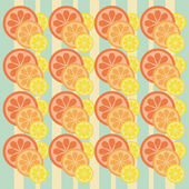 Background with citrus fruits — Stock Vector