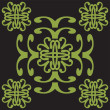 Green ornament - Stock Vector