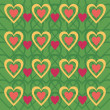 Royalty-Free Stock Векторное изображение: Background with hearts