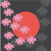 Japanese style illustration — Stock Vector