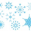 Royalty-Free Stock Векторное изображение: Set with snowflakes
