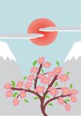 Ilustración japonesa — Vector de stock