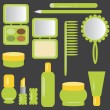 Set with cosmetics and make-up - Stock Vector