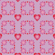 Background with hearts and flowers — Imagen vectorial