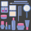 Royalty-Free Stock Vector Image: Set with cosmetics and make-up