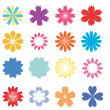 Set with flowers - Stock Vector