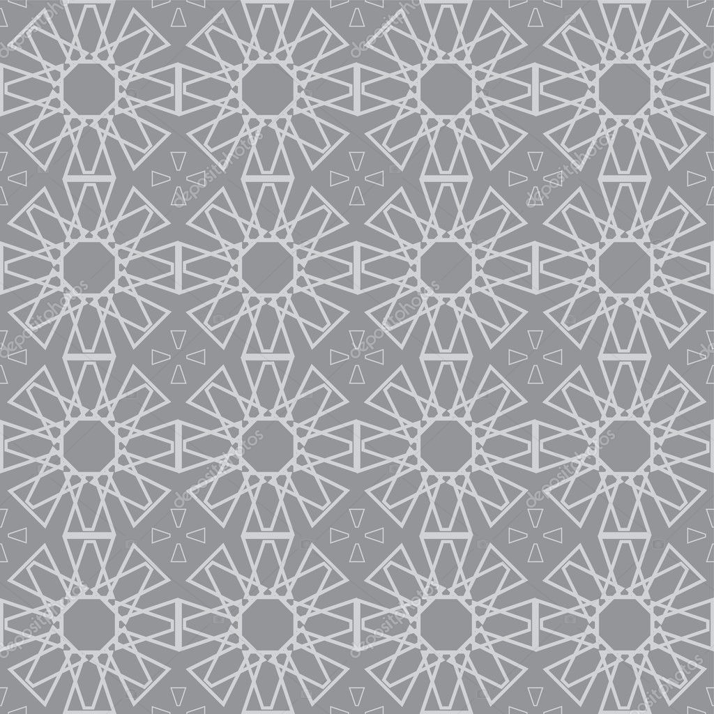 Background with geometric ornament on grey — Stock Vector #2135287
