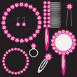 Set with lady's objects — Stock Vector #2163707
