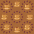 Stock Vector: Background with cups of coffee