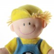 Soft toy - smiling boy in colour cloth, — Stock Photo #1298877