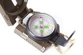 Toeristische kompas over wit — Stockfoto