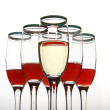 Composition from wine goblets — Stock Photo