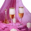 Two goblets with champaign — Stock Photo #1352882