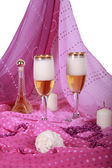 Two goblets with champaign — Stock Photo